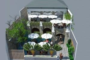 Mẫu thiết kế quán cafe diện tích nhỏ Tino tại TP Hồ Chí Minh