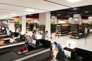 Mẫu thiết kế trung tâm thương mại đẹp, hiện đại Vikybomi