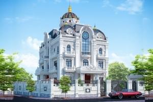 Thiết kế biệt thự 3 tầng cổ điển tại Bình Dương