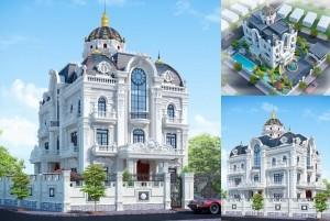 Thiết kế dinh thự 3 tầng cổ điển tại Bình Dương