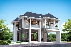 Thiết kế biệt thự vườn 2 tầng hiện đại tại Lào Cai