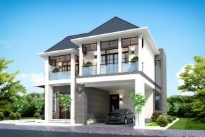 Thiết kế nhà ở vườn 2 tầng hiện đại tại Lào Cai