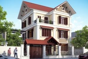 Mẫu biệt thự 3 tầng tại Bắc Ninh