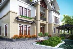 Thiết kế biệt thự hiện đại 3 tầng tại Hà Giang