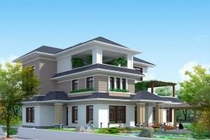 Thiết kế biệt thự đẹp hiện đại 3 tầng tại Bắc Ninh