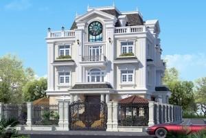 Thiết kế dinh thự tân cổ điển 3 tầng tại Hải Dương