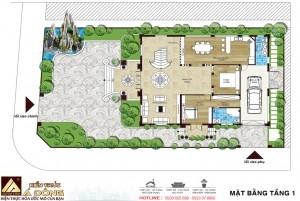 Thiết kế lâu đài tân cổ điển 3 tầng tại Hải Dương