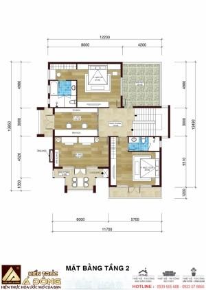 Mẫu thiết kế biệt thự 2 tầng hiện đại tại Lào Cai