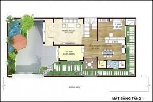 Mẫu biệt thự Tây Hồ hiện đại 2,5 tầng mơ ước