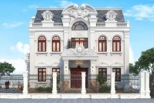 Thiết kế dinh thự tân cổ điển 2 tầng tại Kon Tum