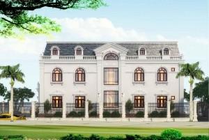 Thiết kế dinh thự tân cổ điển 2 tầng tại Kon Đắk Nông