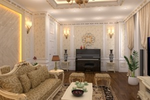 Thiết kế nhà ở cổ điển Châu Âu 3 tầng Gia Lâm Hà Nội