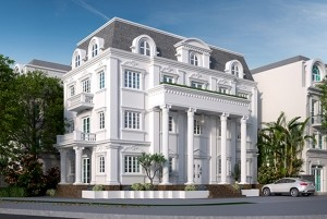 Thiết kế dinh thự cổ điển Châu Âu 3 tầng Gia Lâm Hà Nội