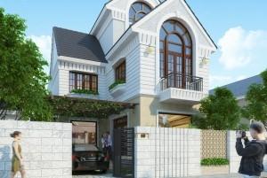 Mẫu nhà ở 2 tầng hiện đại đẹp tại Bắc Ninh