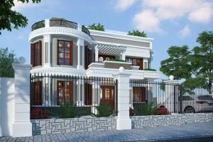 Mẫu thiết kế nhà ở 2 tầng đẳng cấp tại Hà nội