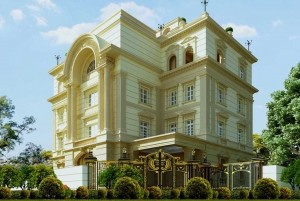 Mẫu lâu đài tân cổ điển sang trọng 4 tầng tại TP Hà Nội