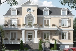 Mẫu nhà ở phong cách Châu Âu 2.5 Tầng tại Đà Lạt