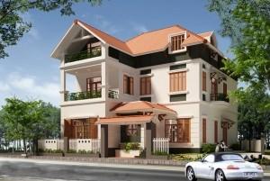 Mẫu thiết kế nhà nhà ở 2 tầng thu hút mọi góc nhìn