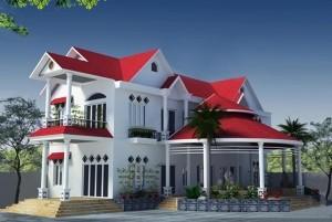 Mẫu nhà ở 2 tầng sang trọng hiện đại ở Ninh Bình