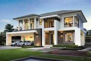 Mẫu nhà đẹp thiết kế nhà ở 2 tầng chữ L TP Đà Lạt