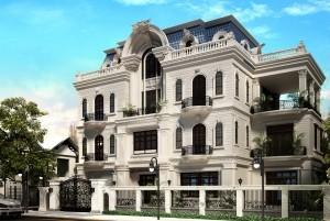 Mẫu thiết kế dinh thự cổ điển 3 tầng tại Bắc Ninh