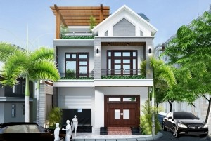 Thiết kế nhà ở 2 tầng cao cấp ở Vĩnh Phúc