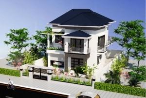 Mẫu nhà ở 2 tầng hiện đại ở thành phố Hà Nội