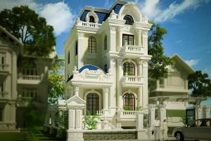Mẫu lâu đài cổ điển 3 tầng đẳng cấp, sang trọng tại TP. Hồ Chí Minh