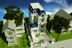 Mẫu nhà ở cổ điển 3 tầng đẳng cấp, sang trọng tại TP. Hồ Chí Minh