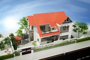 Thiết kế nhà ở đẹp 2 tầng đơn giản tinh tế tại quận Tây Hồ