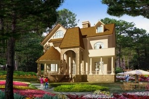 Mẫu thiết kế nhà ở cổ điển Pháp 2,5 tầng đẹp đẳng cấp