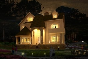 Mẫu thiết kế dinh thự cổ điển Pháp 2,5 tầng đẹp đẳng cấp