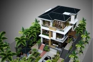 Mẫu nhà ở hiện đại 3 tầng sang trọng tại TP Quảng Ninh