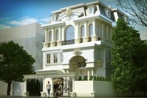 Mẫu nhà ở 3 tầng cổ điển sang trọng nhất TP Hà Nội