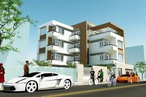 Mẫu nhà ở hiện đại 4 tầng đẹp tại TP Nha Trang