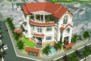 Mẫu nhà đẹp thiết kế biệt thự 3 tầng hiện đại tại Nha Trang
