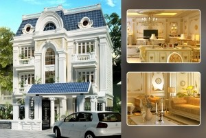 Mẫu nhà ở cổ điển 3 tầng cao cấp ở TP. Hà Nội