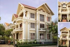 Mẫu thiết kế mẫu dinh thự tân cổ điển đẹp