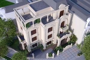 Mẫu dinh thự cổ điển đẹp, sang trọng ở Nam Định