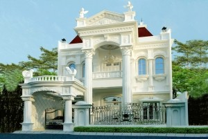 Dự án thiết kế dinh thự cổ điển kiểu Pháp đẳng cấp