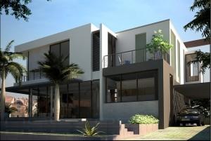 Mẫu nhà biệt thự 2 tầng hiện đại đơn giản, tinh tế