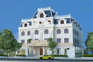Mẫu thiết kế dinh thự Pháp cổ điển 3 tầng đẳng cấp, sang trọng.