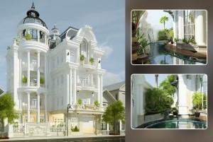 Mẫu nhà ở cổ điển 5 tầng đẹp, đẳng cấp tại Hà Nội