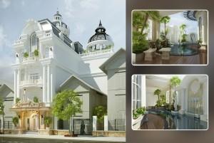 Mẫu lâu đài cổ điển 5 tầng đẹp, đẳng cấp tại Hà Nội
