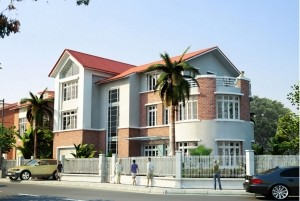 Thiết kế nhà ở hiện đại 2,5 tầng đẹp tại Hà Nội