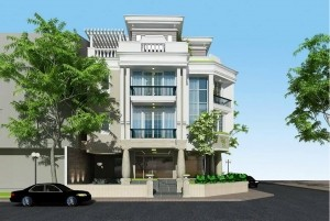 Mẫu thiết kế nhà nhà ở 4 tầng hiện đại, sang trọng