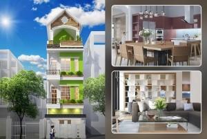 Mẫu nhà phố 4 tầng đẹp, hiện đại tại Vĩnh Phúc