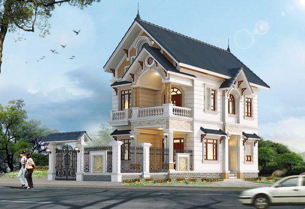 Thiết kế biệt thự mái thái ưa chuộng trong năm 2021