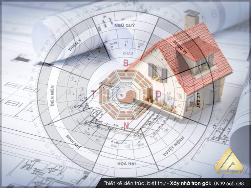 Thiết kế nhà theo phong thủy giúp gia chủ sức khỏe, may mắn