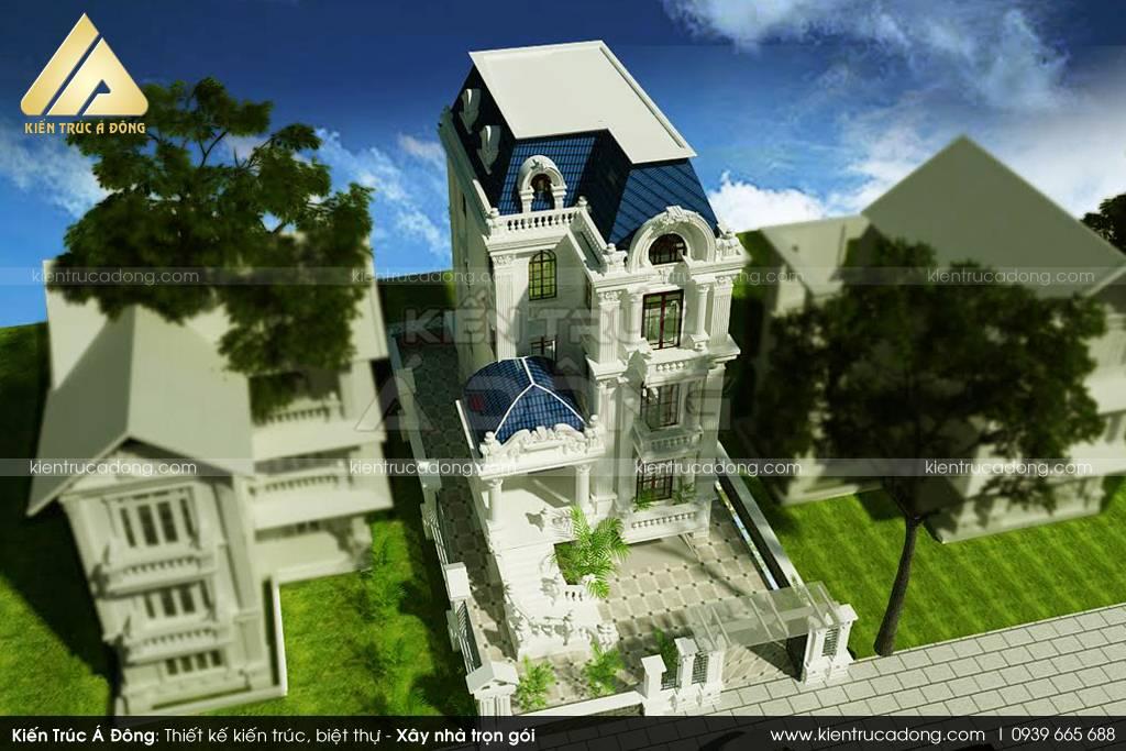 Đẹp ngỡ ngàng với biệt thự 3 tầng cổ điển